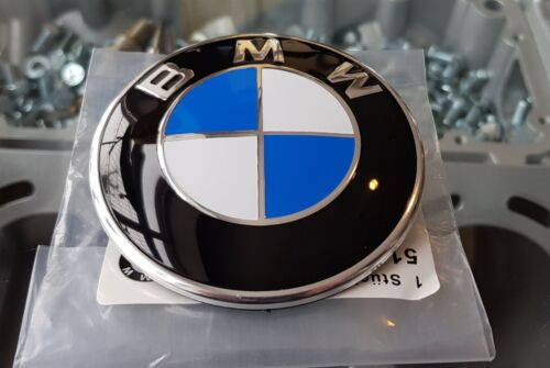 BMW BADGE FOR BONNET 82MM SIZE 1 2 3 4 5 6 7 SERIES VEHICLES