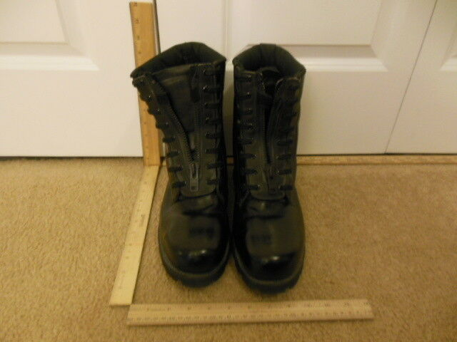 03afd81889ee ... Boots Mens Mens Mens Black Leather Work Boots Size 11 w 11w Used  PreOwned Vibram Laced ...