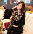 1x Fashion Women Leopard Stylish Long Soft Silk Chiffon Scarf Wrap Shawl Scarves