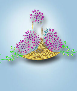 1930s-Vintage-Betty-Burton-Embroidery-Transfer-1580-Uncut-Floral-Basket-Pcases