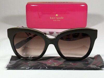 938dde4279  160 New Authentic Kate Spade Cat Eye Sunglasses Brown W  Brown Gradient  Amberly