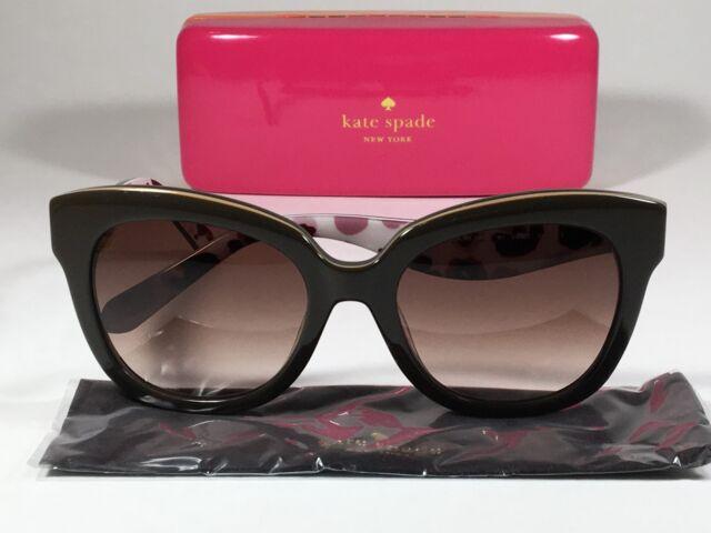 dae38369c4ec Kate Spade Sunglasses Womens Pink Glitter Cat Eye Brown Sherrie/s 0w66 B1  for sale online | eBay