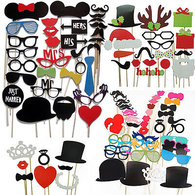 GIFT NICE DIY BOOTH PROPS MUSTACHE BOW ANTLER STICK WEDDING BIRTHDAY PARTY PHOTO