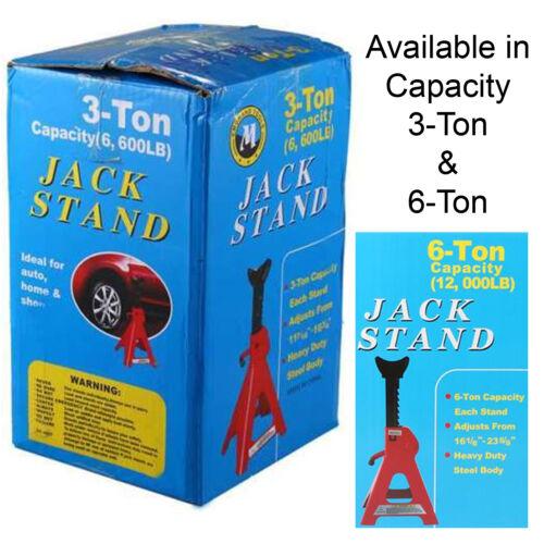 3//6 T capacité de levage Essieu Jack stand Heavy Duty Caravane Sol Voiture Jack