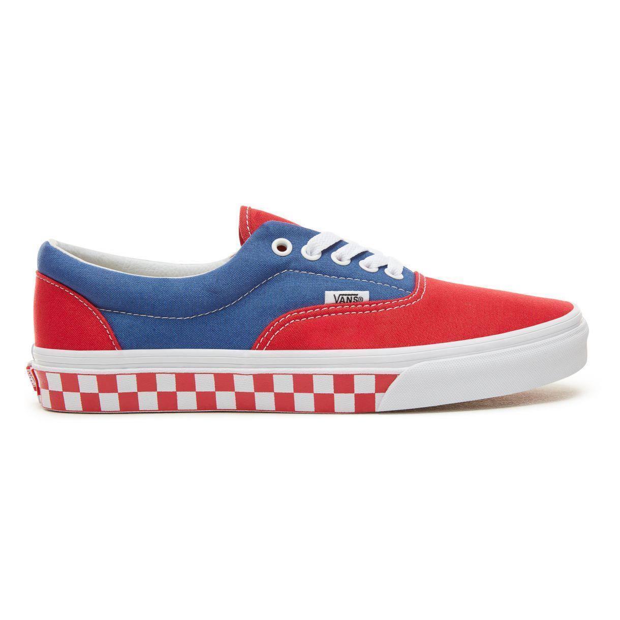 Vans Era Chaussures BMX damier bleu véritable/rouge skate old skool Skyway Mon