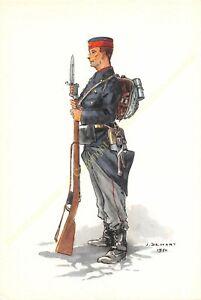 Illustration J.Demart Militaria Belgien Soldat Infanterie Linien- 1914