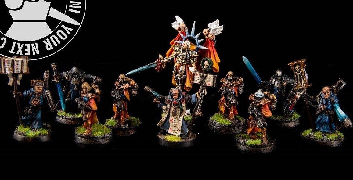 Warhammer 40K, Adepta Sororitas, Holy Celestine e  Retinue. 5 resin, 5 metal PP  vendita calda