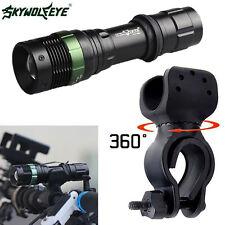 5000 LM Zoomable CREE XML T6 LED Taschenlampe Fahrrad Fahrrad 360 ° Mount Clip