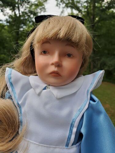 "Silvestri /""Alice In Wonderland/"" 18.5/"" Porcelain Doll By Faith Wick MIB 1985"