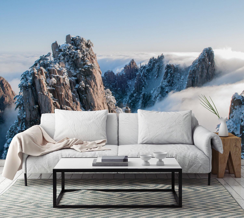 3D 3D 3D Natürlicher Berg Wolken 8476 Tapete Wandgemälde Tapeten Bild Familie DE Lemon   Zürich  8ead15