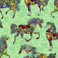 Quilting Treasures painted Ponies 24270-q Mod Horses Fabric (make Selection)