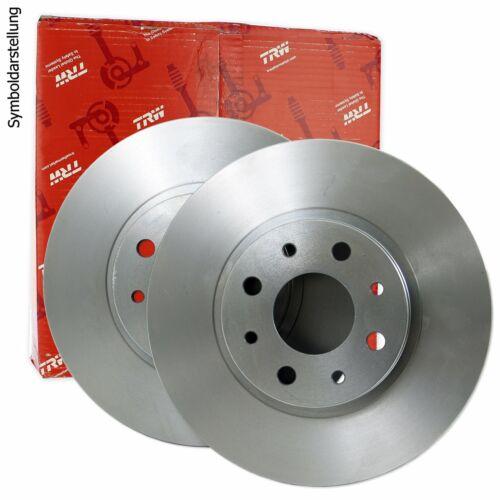 2x TRW Bremsscheibe Bremsscheiben Satz Bremsen Vorne DF6011S