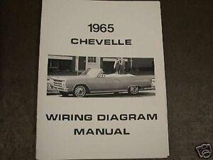 1965 Chevrolet Chevelle Wiring Diagram Manual | eBay