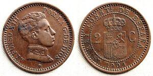 ESPAÑA-Alfonso XIII. 2 Centimos 1904*04. Madrid. MBC+/VF+. Cobre 2 g.