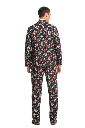 Men Adults Christmas Costumes Xmas Suit Funny Party Suit Santa FairIsle Elf Suit