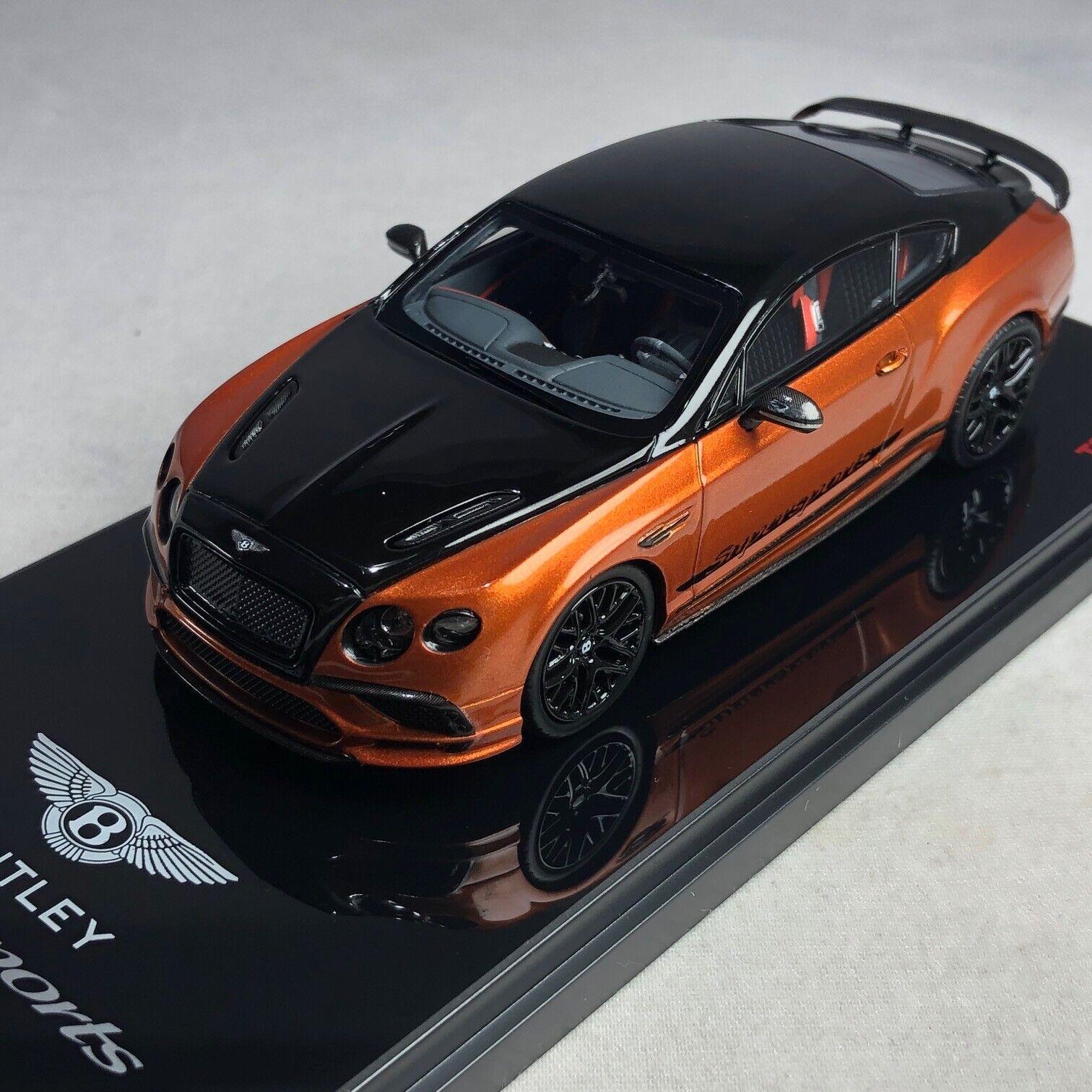 1 43 TSM Bentley Super Sport Onyx Over orange Flame 2017 TSM430280