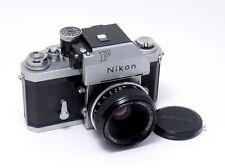 NIKON F PHOTOMIC TN 35mm SLR CAMERA w/ NIKKOR 50mm f2 LENS & TN FINDER Working