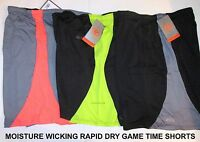 Mens Moisture Wicking Rapid Dry Game Time Athletic Drawstring Waist Shorts