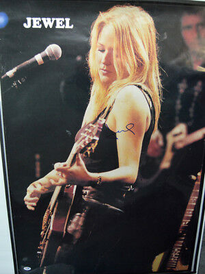 Music Photographs Impartial Jewel Autographed Playing Guitar Live Poster Psa/dna Loa Aftal