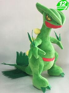 12-039-039-Wow-Pokemon-Sceptile-Plush-Anime-Stuffed-Animal-Doll-Toy-Game-PNPL8393