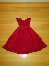 Meli Meli STUNNING Red Silk Faerie Dance Dress Chasing Fireflies Girls Size 8
