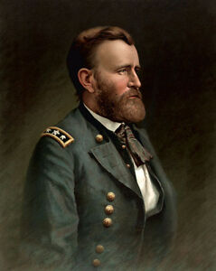 Dream-art-hand-painted-Oil-painting-America-PRESIDENT-Ulysses-S-Grant-canvas
