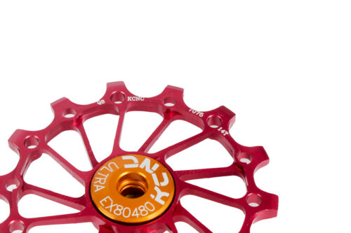 KCNC Road MTB Bicycle Bike Oversized Derailleur Pulley Sealed Bearing 14T Red