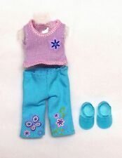 Barbie Kelly Doll Clothes Fashion Outfit Turquoise Pants Lilac Top Shoes New