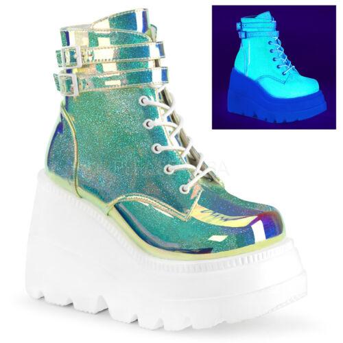 Demonia SHAKER-50 52 55 Womens Wedge Platform Ankle Boot
