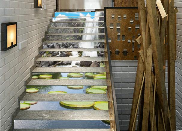 3D Unique river 366 Stair Risers Decoration Photo Mural Vinyl Decal Wallpaper AU