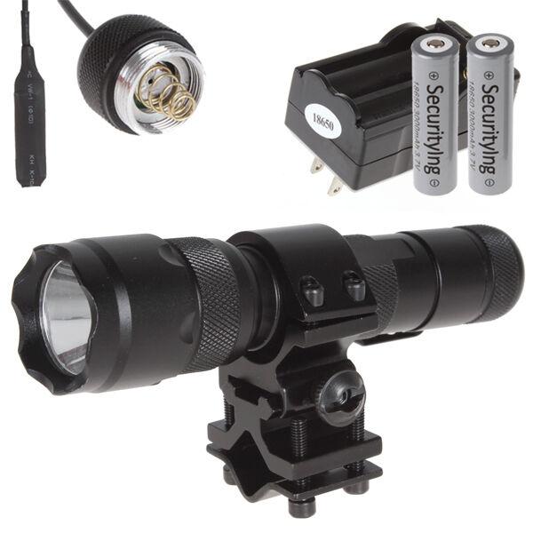 WF-502B CREE XM-L T6 LED Tactical Flashlight Torch & Mount Clip Battery