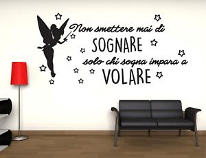 Adesivo Trilli Volare stickers murale decalcomania composizione  vari colori