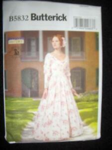 "Butterick 5832 Misses/' ""Making History"" Civil War Dress Pattern Sz 8-14 or 14-22"