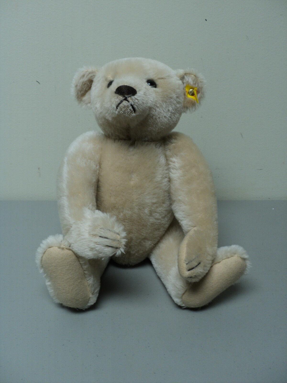 VINTAGE STEIFF  1908 REPLICA  BLONDE MOHAIR TEDDY BEAR  0157 42, c. 1984