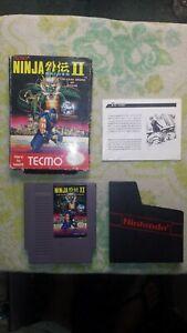 Ninja Gaiden Ii Dark Sword Of Chaos Nintendo Nes Box Manual Game