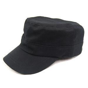 Black-Army-Hut-Baseballcap-Military-Cotton-Stadt-Hat-Herren-Damen-GY-W8P6
