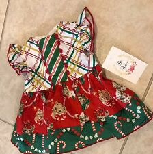 Olive Mae Christmas Kittens Dress USA Baby's First Christmas Gift 3 Months NEW