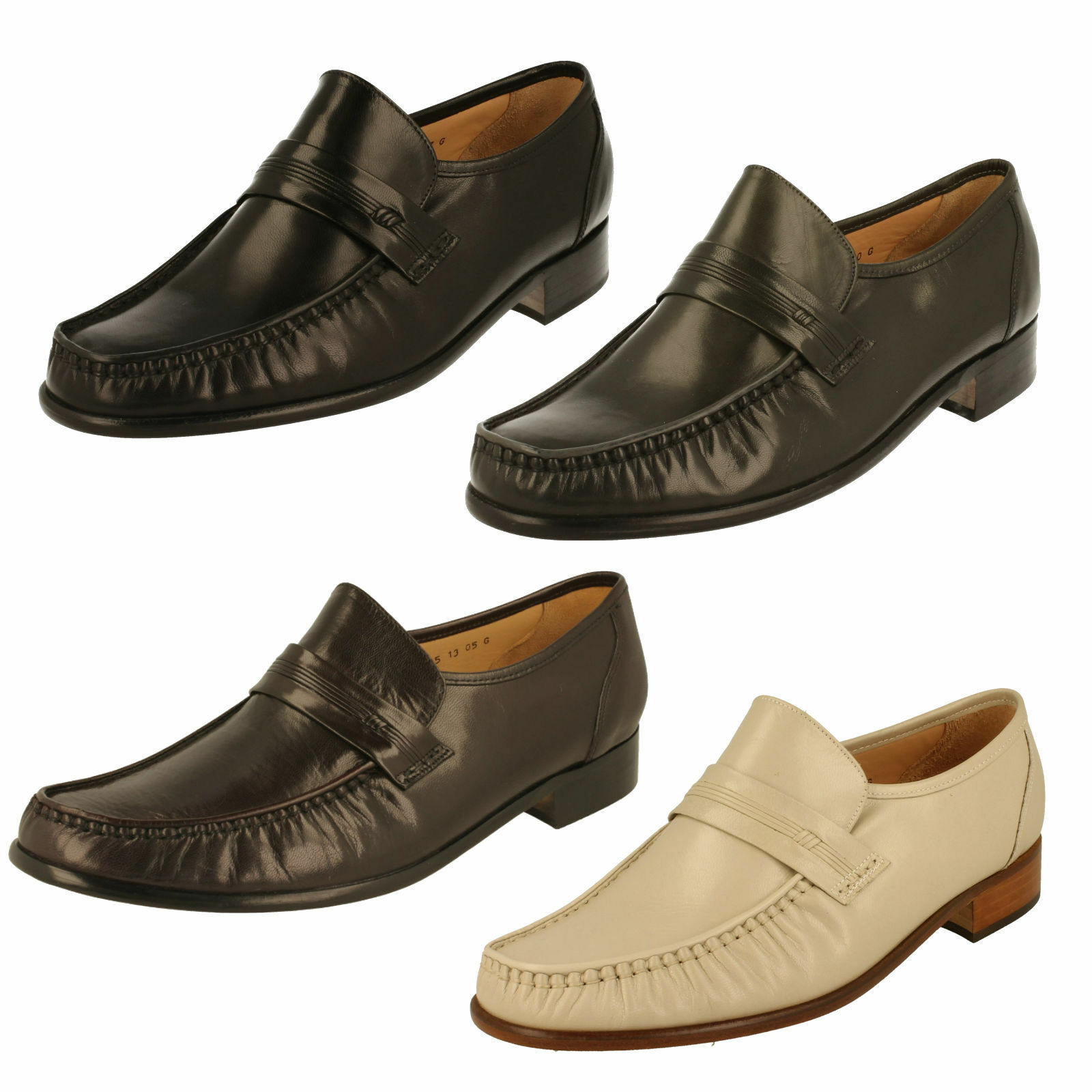 Men's Grenson Formal Moccasin Shoes - Clapham