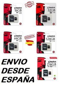 Tarjeta memoria Micro SD SDHC Kingston  32GB 64GB 128GB 256GB Class 10 microsd