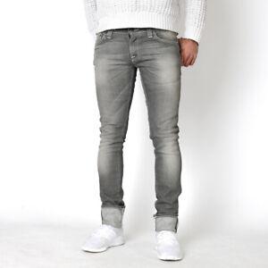 Nudie-Unisex-Damen-Herren-Super-Skinny-Fit-Jeans-Tight-Long-Ecru-Grey-W33-L32