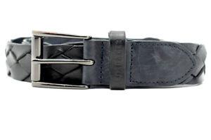 Ted-Baker-Cintura-in-Pelle-Intrecciata-da-Uomo-Nero-Taglia-S-M