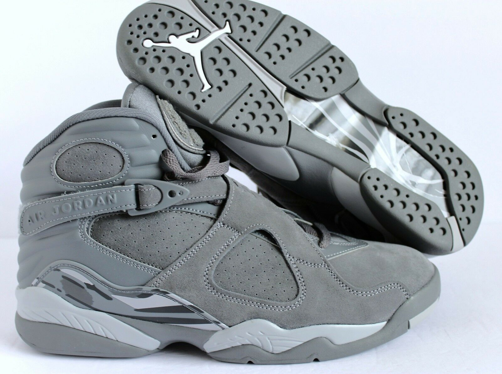 AIR JORDAN 8 RETRO MEN'S BASKETBALL SHOE COOL GREY-WOLF GREY 10 [305381-014]