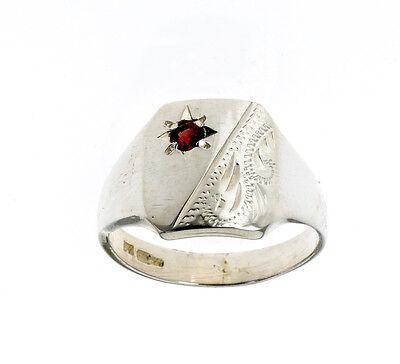Sikh Khanda Ring Signet Men/'s Gents Solid Sterling Silver Handmade size P Z+4