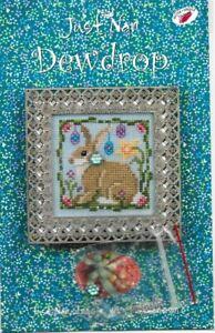 Just-Nan-DEWDROP-Chart-Instructions-w-Embellishments-Easter-Bunny-Rabbit-JN199