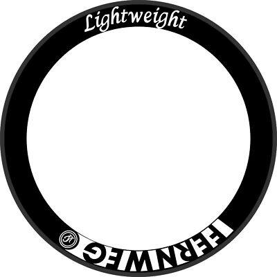 LIGHTWEIGHT FERNWEG 60//70//80//90 CARBON WHEEL RIM DECALS STICKERS FOR TWO RIMS