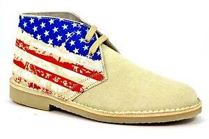 9d9f2fa486 Dettagli su SAFARI NATURAL 2887 BEIGE Scarpe Tipo Clark Desert Boot  Camoscio Americana Rosso