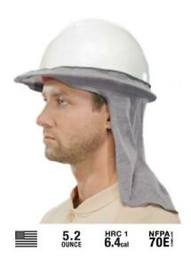 Benchmark-FR-Flame-Resistant-Hard-Hat-Neck-Shade-Sol-Shade-Gray-Fast-Ship