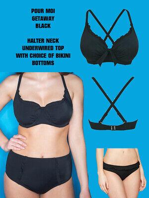 Pour Moi Getaway Halter Underwired Red Bikini Top Ladies Swimwear NEW