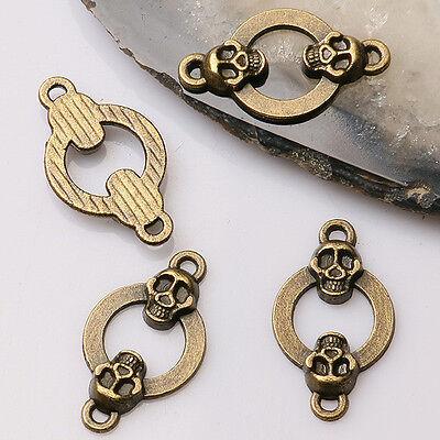 16pcs antiqued bronze color oval musical staff design charms EF0664