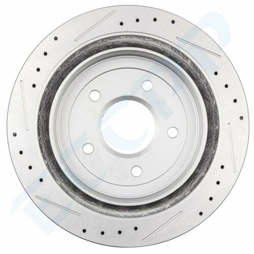For Chevy C5 Corvette 97-04 Front Rear Drilled Slotted Brake Rotors Ceramic Pads